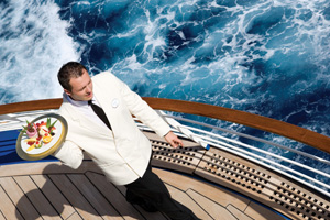 waiter on cruise ship